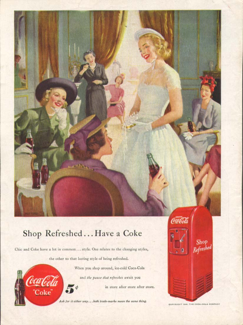 Image for Shop rerfeshed Have a Coca-Cola ad 1949 fashion show