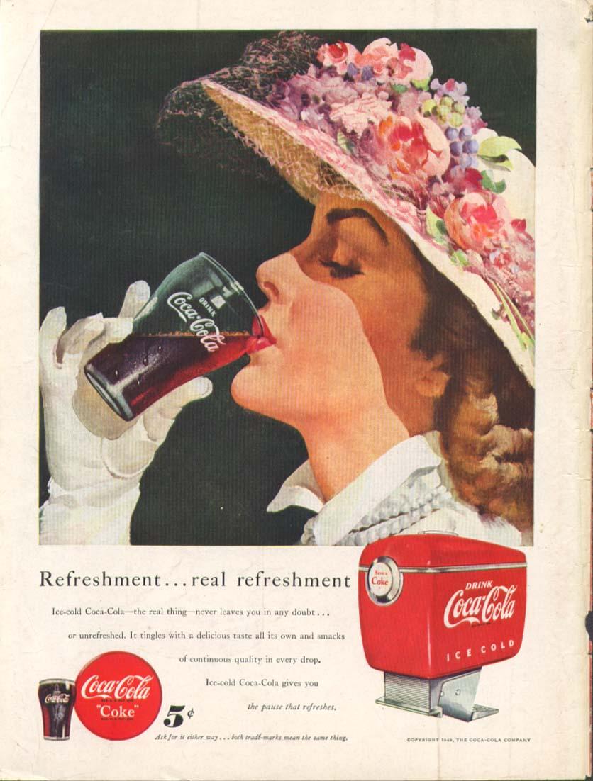 Image for Refreshment real refreshment Coca-Cola ad 1949