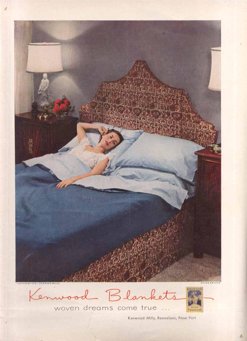 Kenwood Blankets woven dreams ad 1951 Anton Breuhl