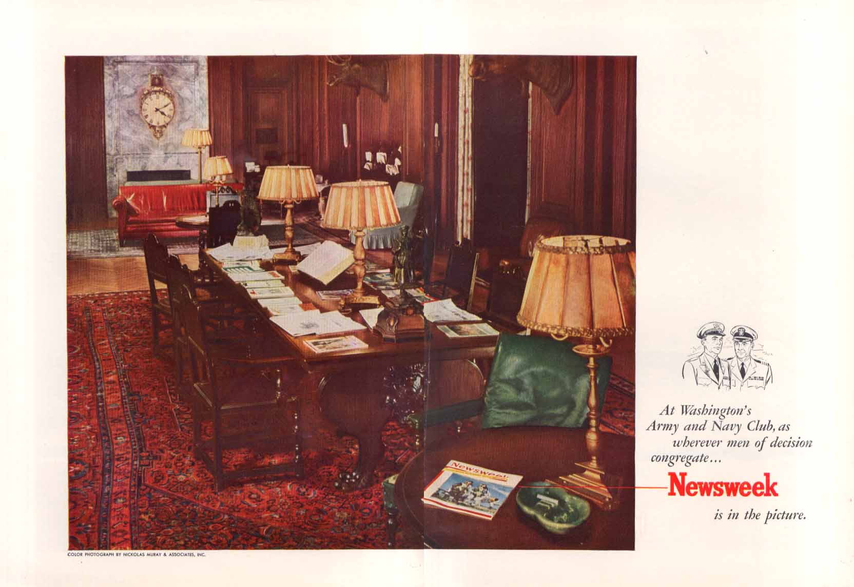 Image for Newsweek Washington DC Army & Navy Club ad 1951 Muray