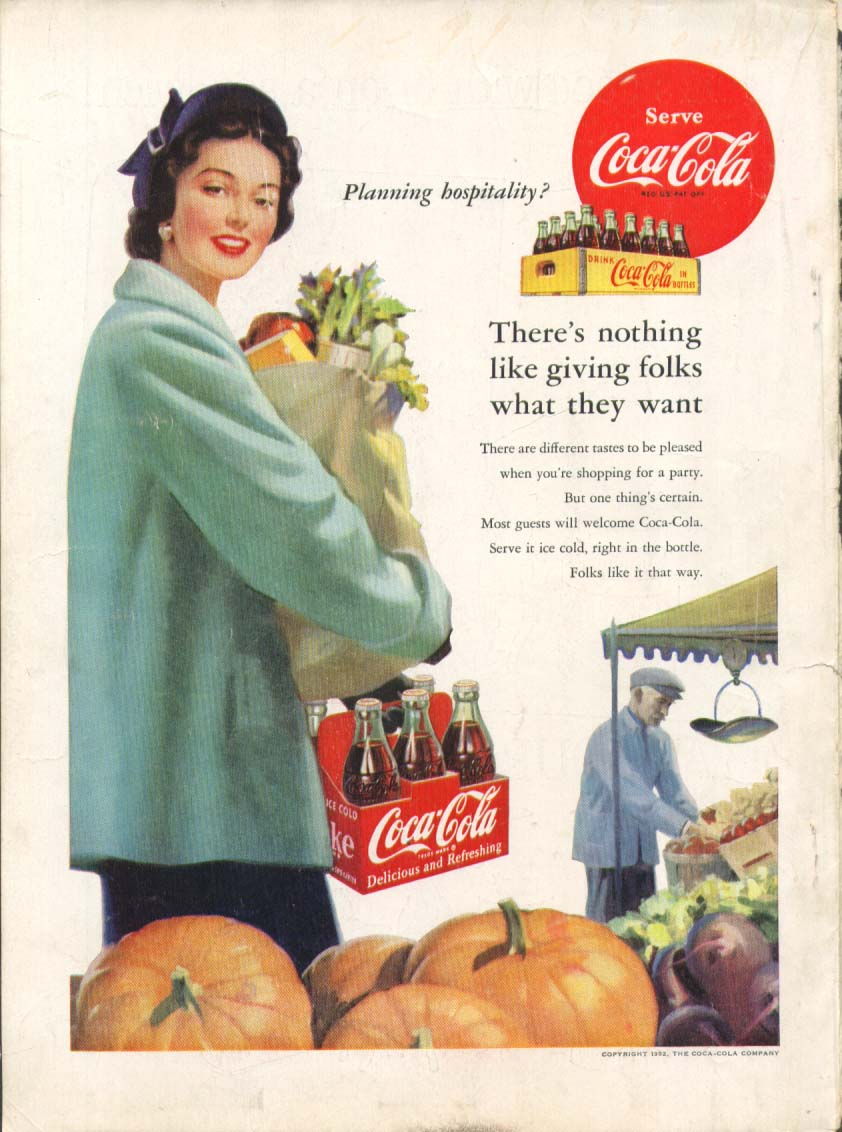 Image for Planning hospitality? Coca-Cola ad 1952 grocery shop