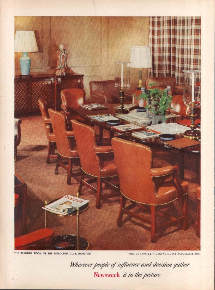 Newsweek at The Petroleum Club Houston TX ad 1953 Muray