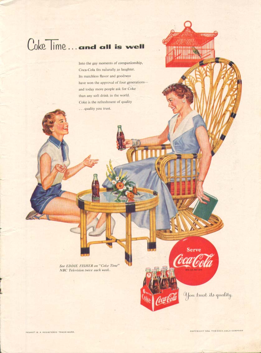 Image for Coke Time & all is well Coca-Cola ad 1954 housewives