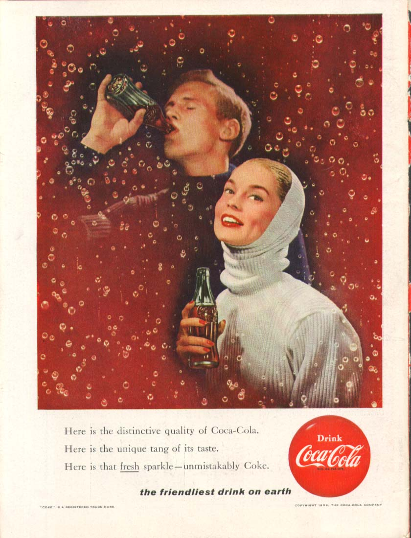 Image for Here is the distinctive quality . . . Coca-Cola ad 1956