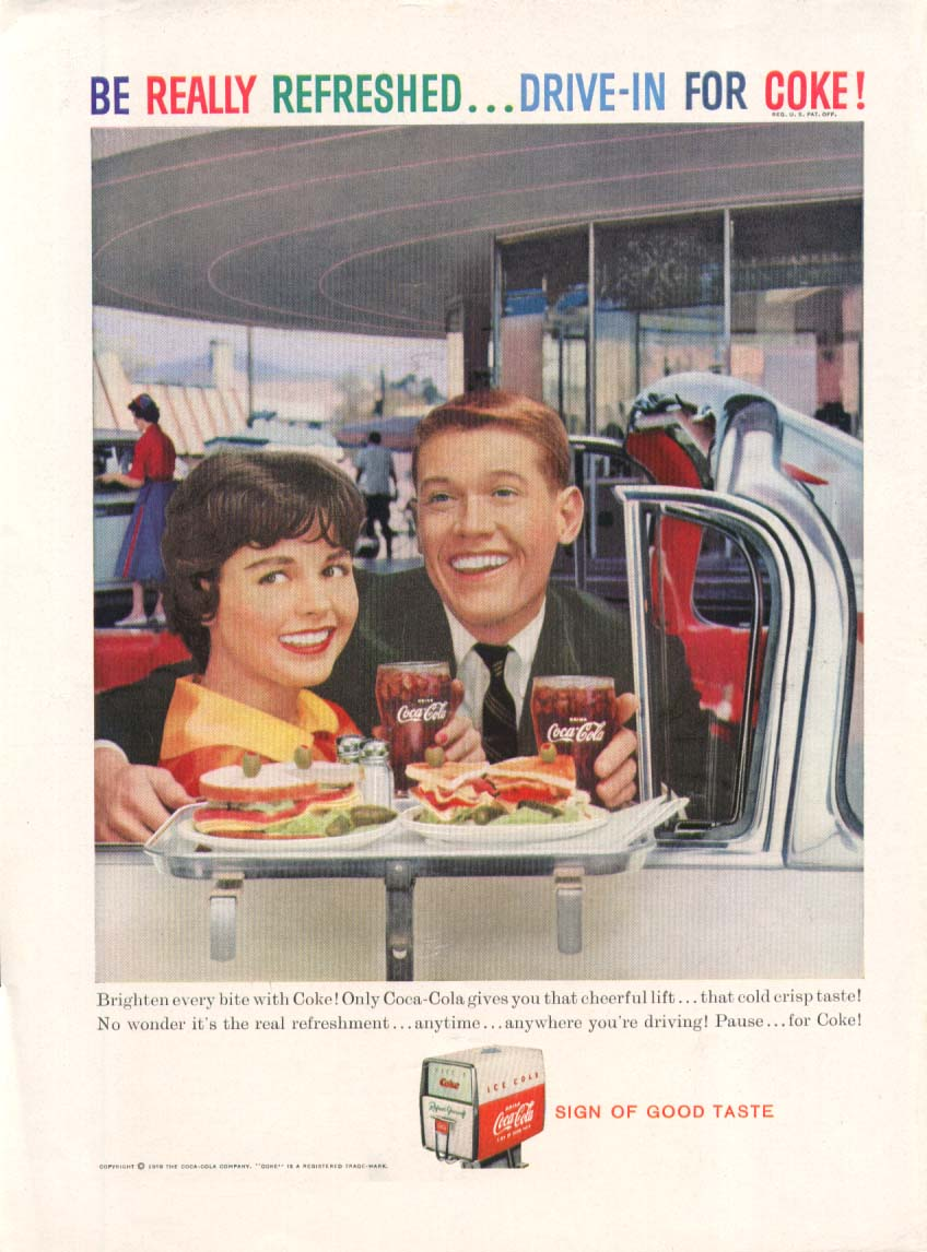 Image for Be Really Refreshed Drive-in for Coca-Cola ad 1959
