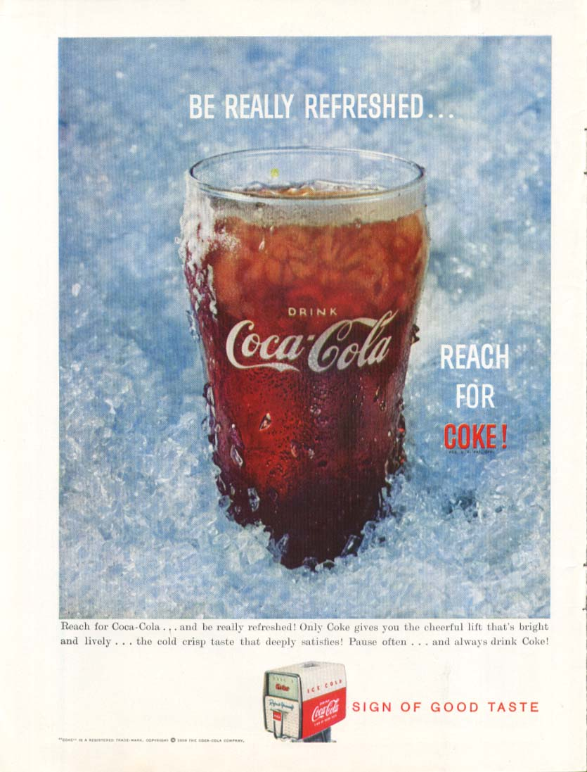 Be Really refreshed Reach for Coca-Cola ad 1959
