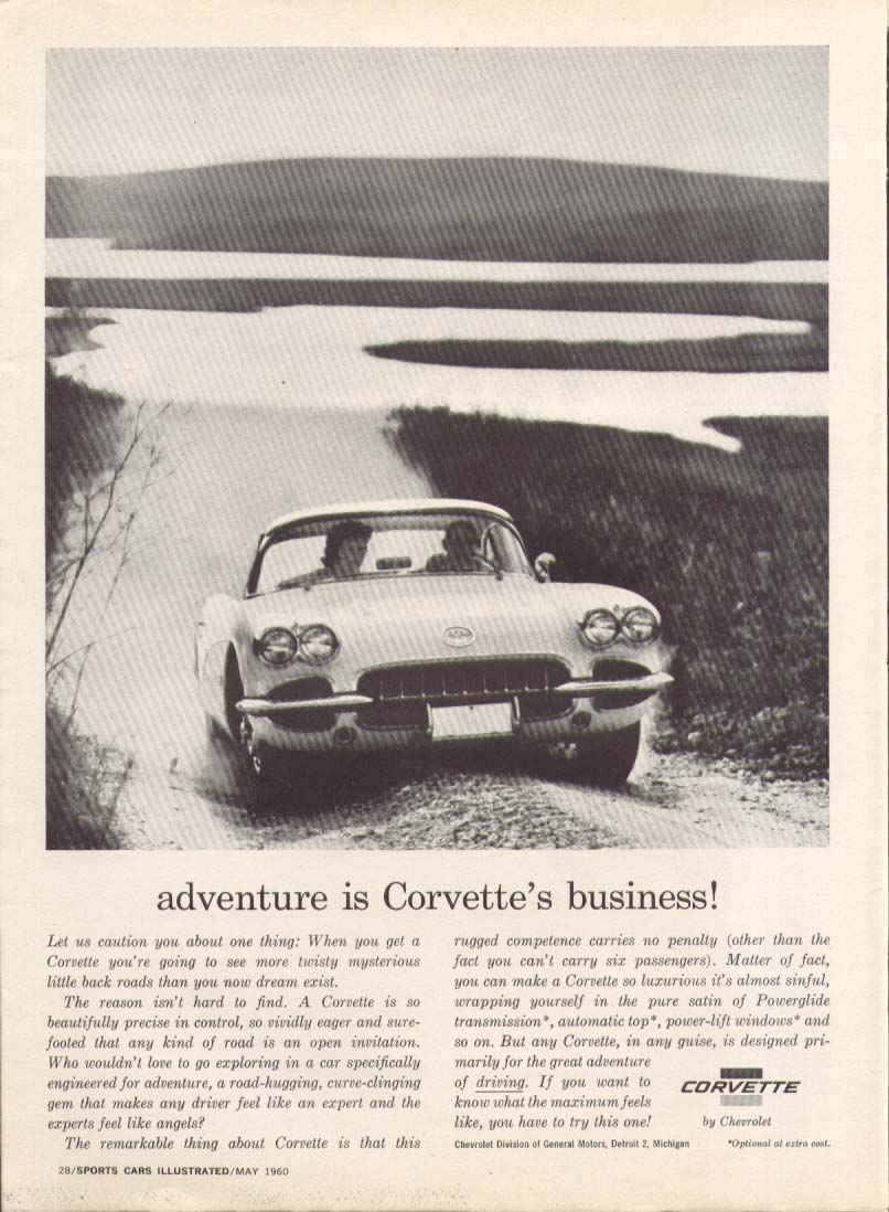 Adventure is Corvette business ad 1960 SCI