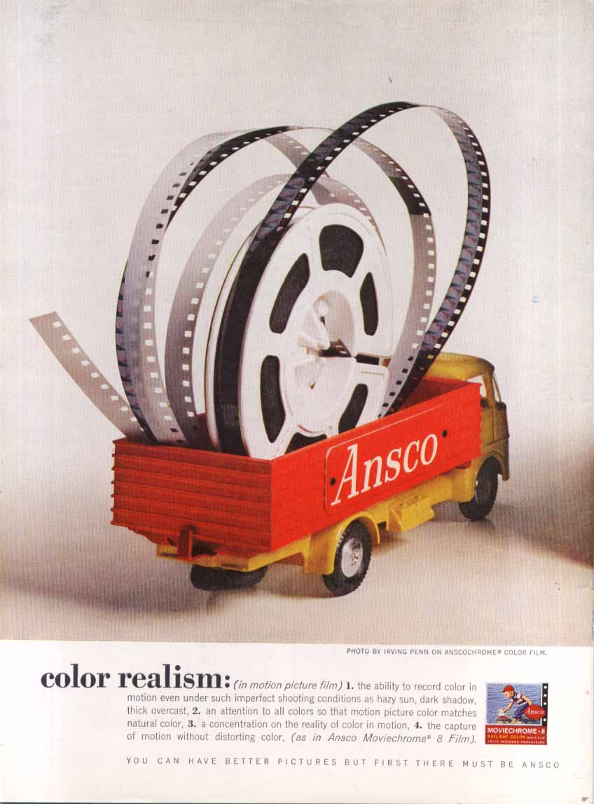 Ansco Film Color Realism ad 1961 Irving Penn