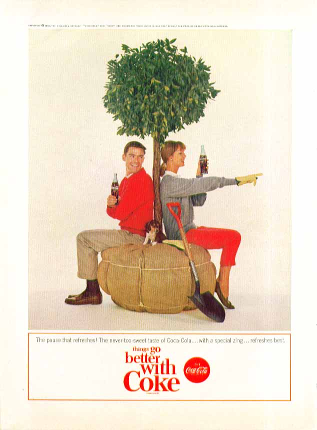 Image for The pause that refreshes Coca-Cola ad 1964 tree ready to be planted