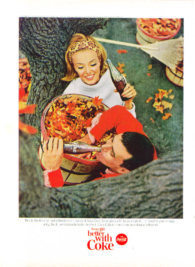 Image for This is the time for Coca-Cola ad 1965 autumn leaves