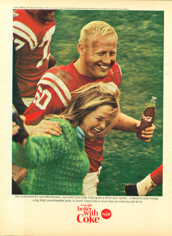 Image for Time for refreshment Coca-Cola ad 1965 football win