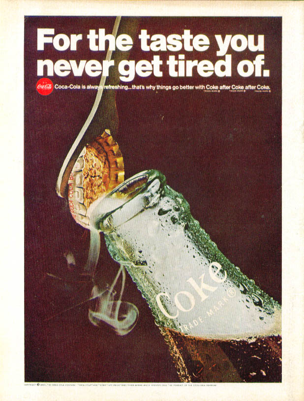 Taste you never get tired of Coca-Cola ad 1967 opener
