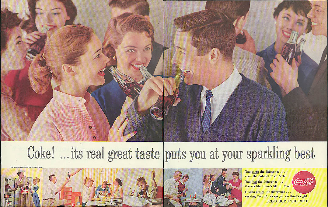 Real great taste puts you at your sparkling best Coca-Cola ad 1956