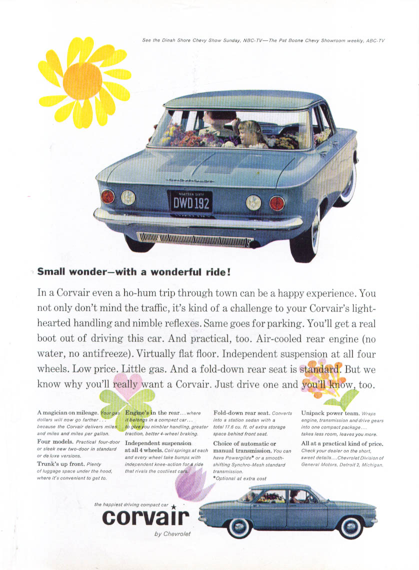 Image for Small wonder - with a  wonderful ride! Corvair ad 1960