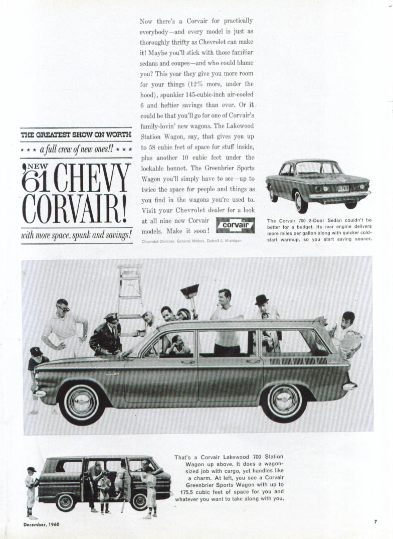 For practically everybody . . Corvair ad 1961
