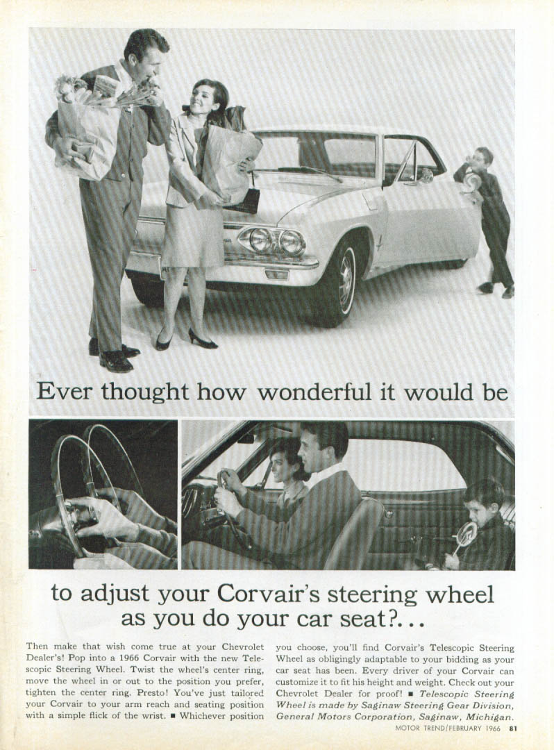 Ever thought how wonderful Corvair  Saginaw ad 1066