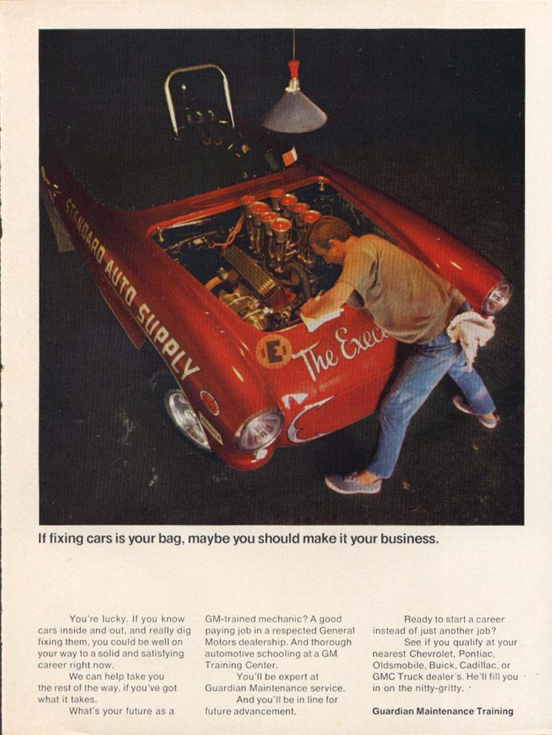 Image for Fixing cars your bag GM ad w/ Corvette 1969
