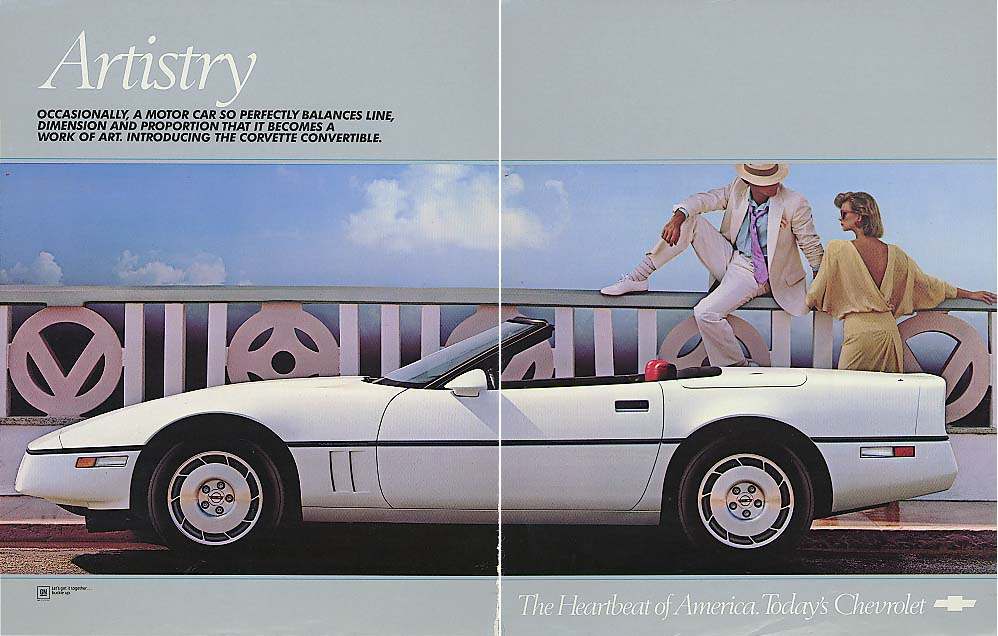 Artistry. Introducing the Corvette Convertible ad 1982
