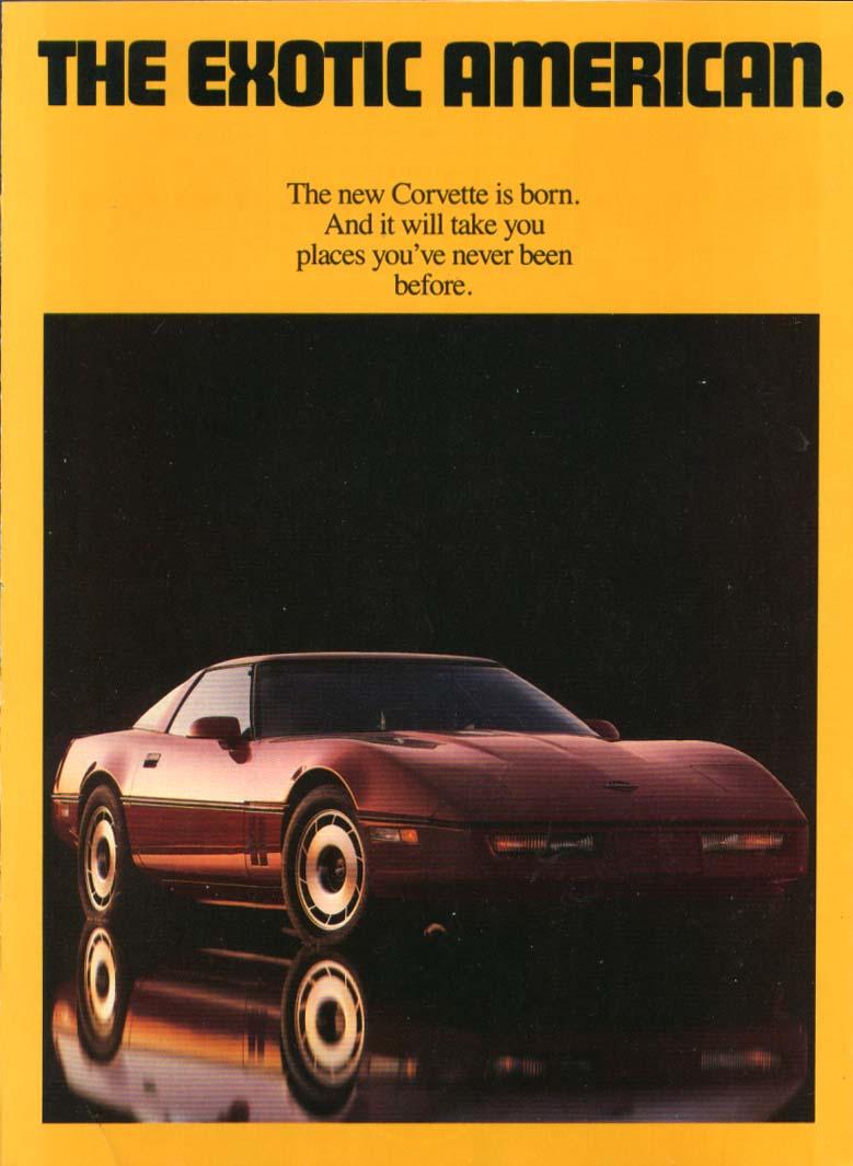 Image for The Exotic American Corvette ad 1983 4-panel folder Car & Driver