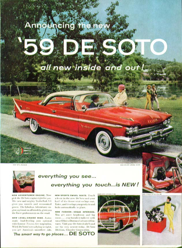 Announcing the new '59 DeSoto all new inside & out ad 1959 De Soto