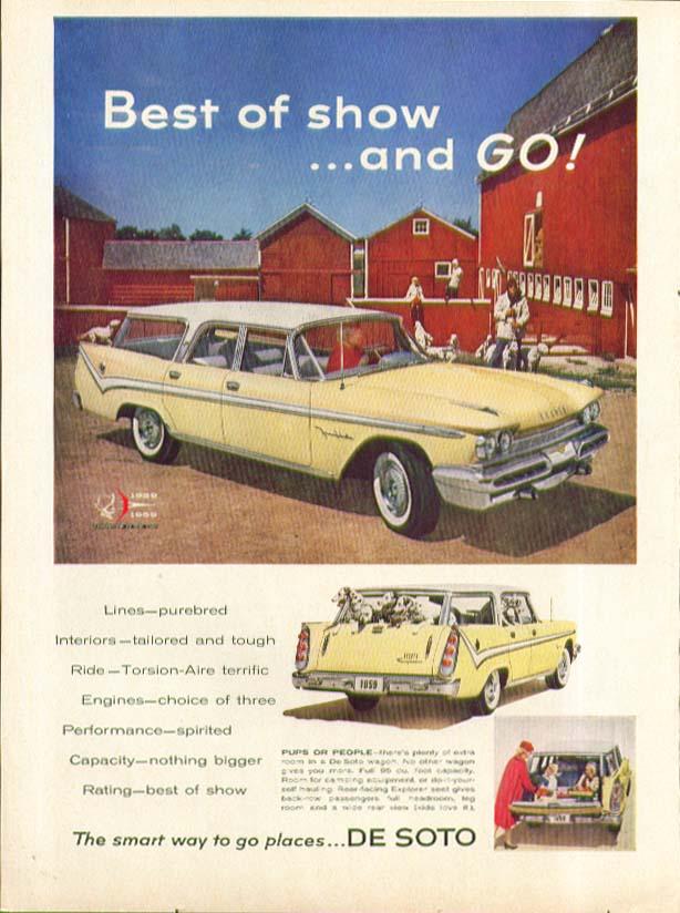 Best of show and GO! DeSoto Station Wagon ad 1959 De Soto