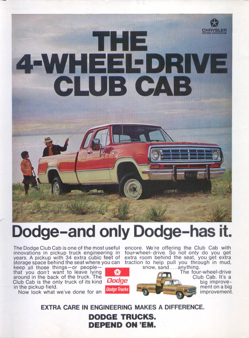 Four Wheel Drive Taxi : Dodge wheel drive club cab only has it ad ebay