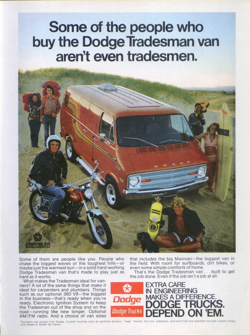Image for Dodge Tradesman people aren't even ad 1974