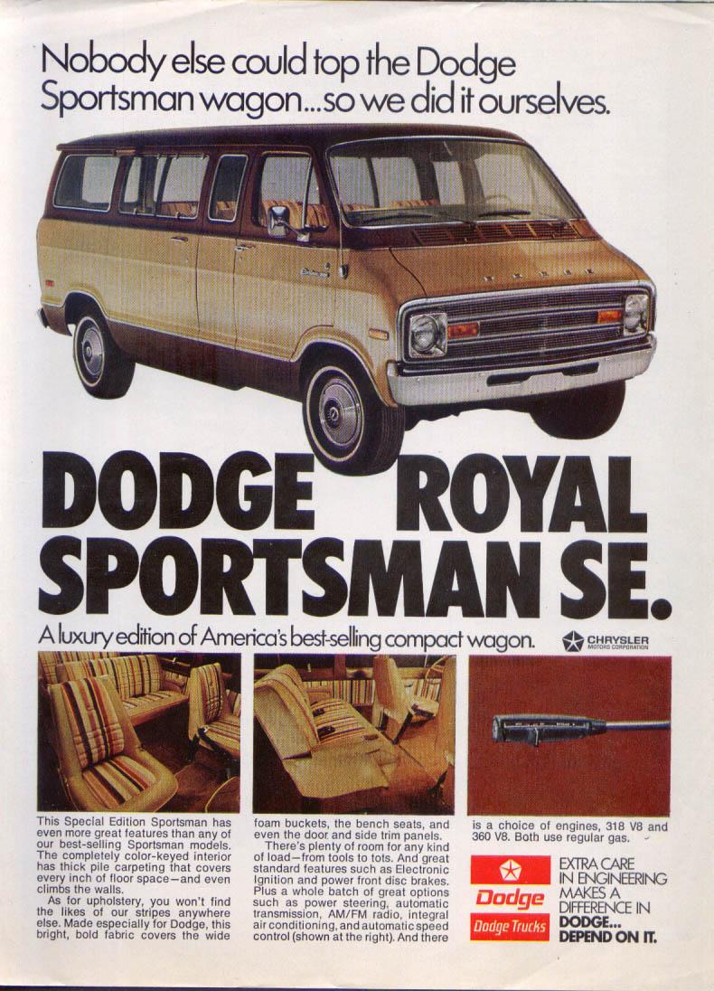 Image for Dodge Royal Sportsman SE Nobody else could top ad 1974