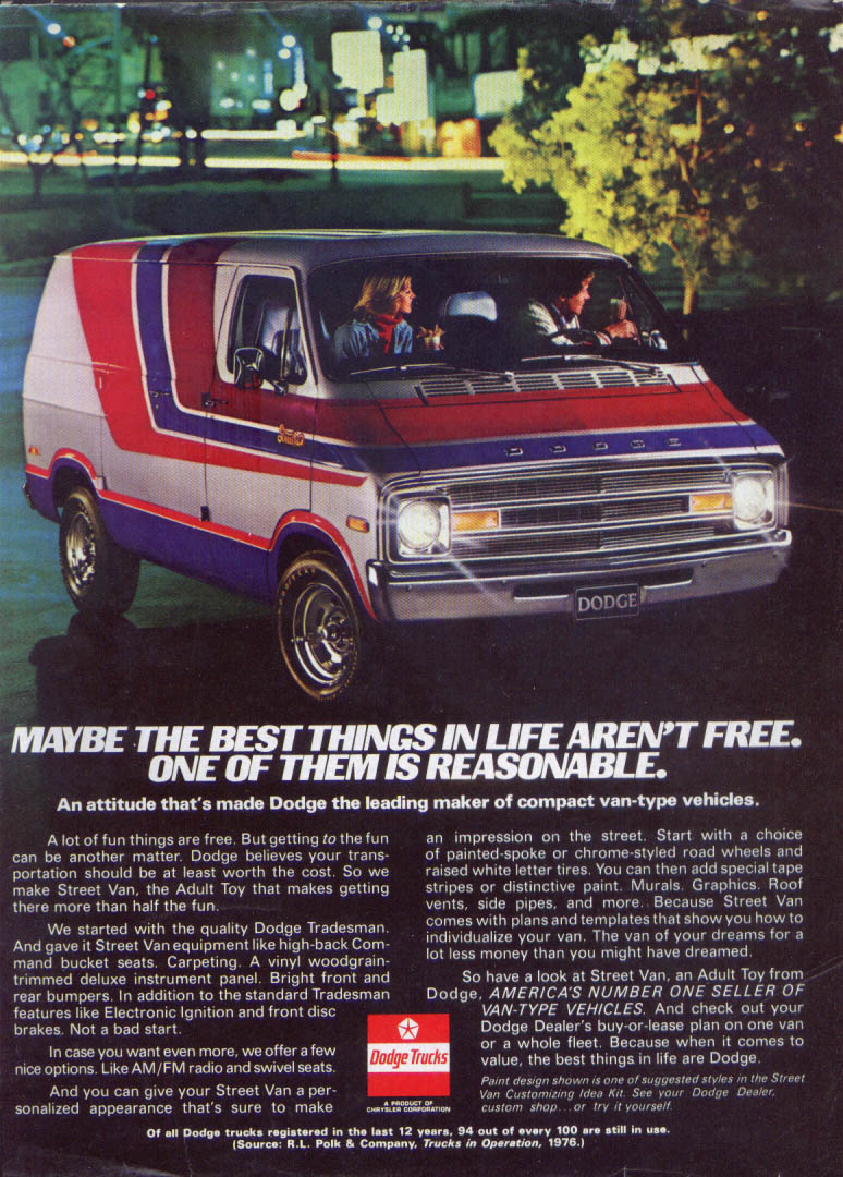Image for Dodge Maybe Best Things in Life Aren't Free ad 1977