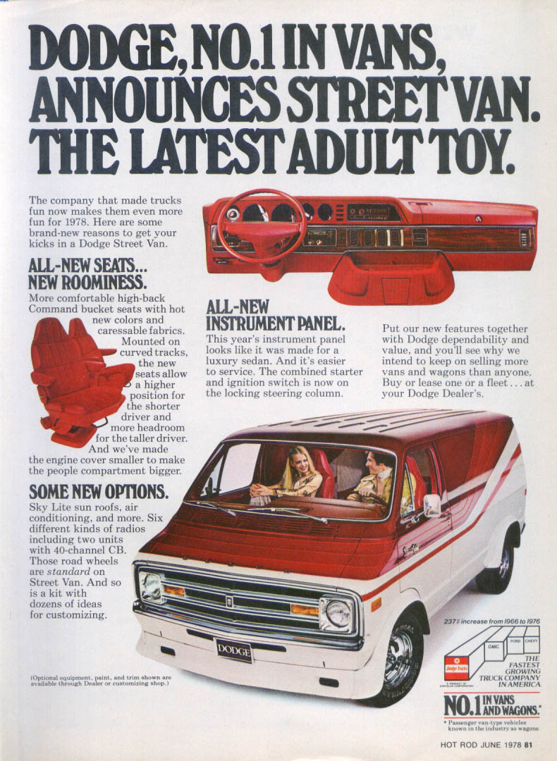 Image for Dodge Street Van Latest Adult Toy ad 1978