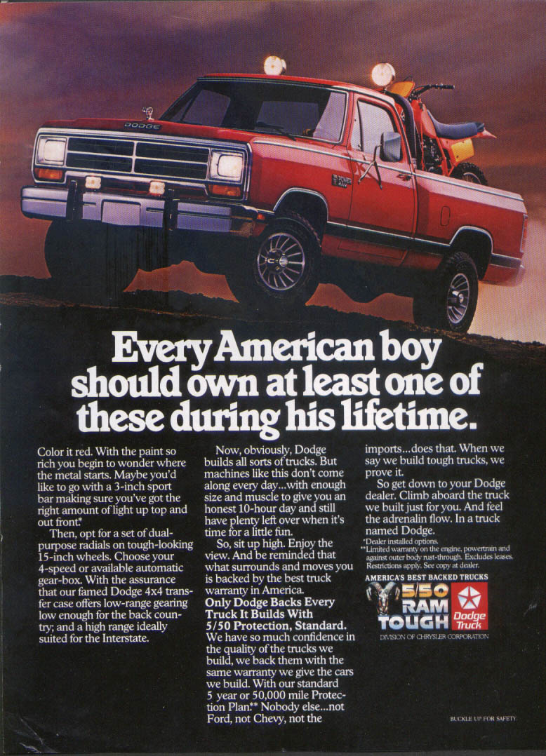 Image for Dodge Power Ram Every American boy should own ad 1980