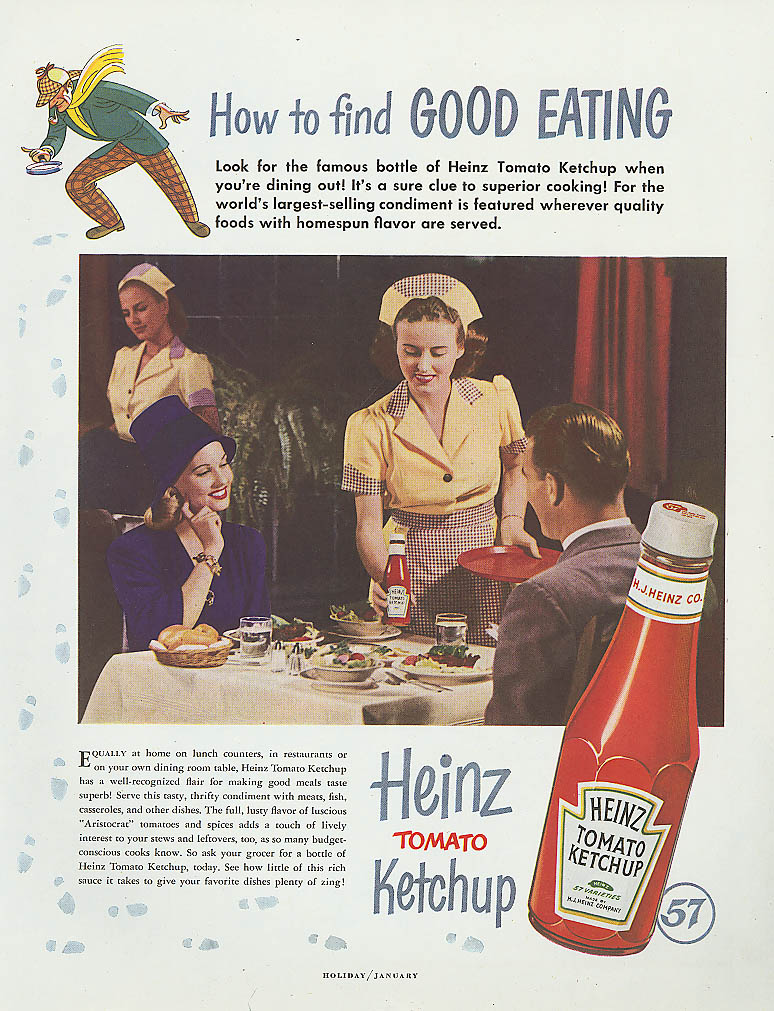Image for How to find Good Eating Heinz Ketchup ad 1949