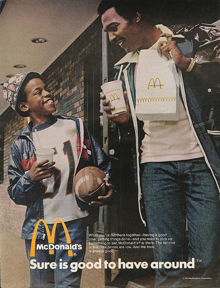 Image for Sure good to have around McDonald's ad negro football