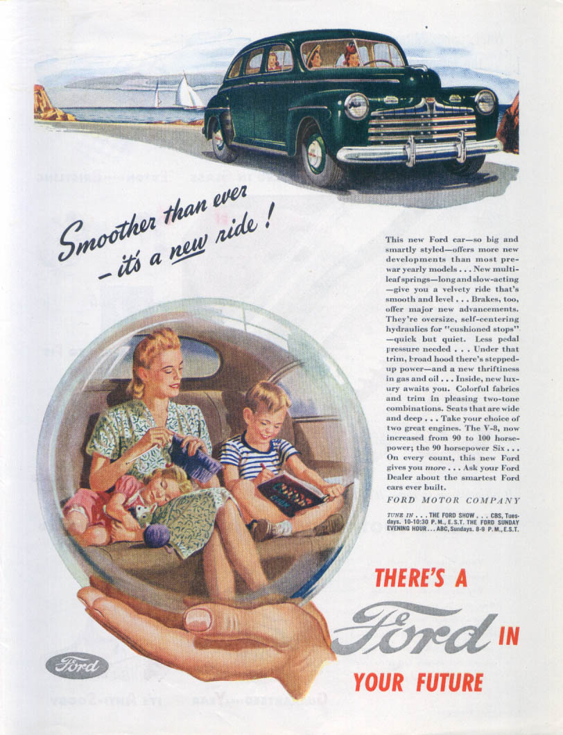 Image for Smoother than ever - it's a new ride! Ford ad 1946