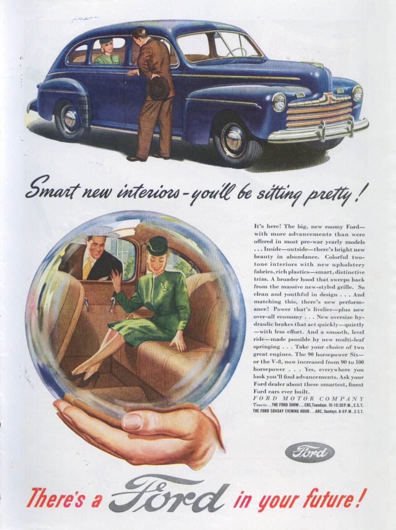 Image for Smart new interiors - you'll be sitting pretty! Ford ad