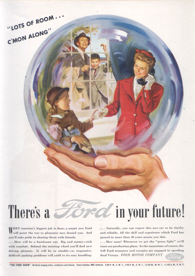 Image for Lots of room . . . C'mon along Ford ad 1945 1946