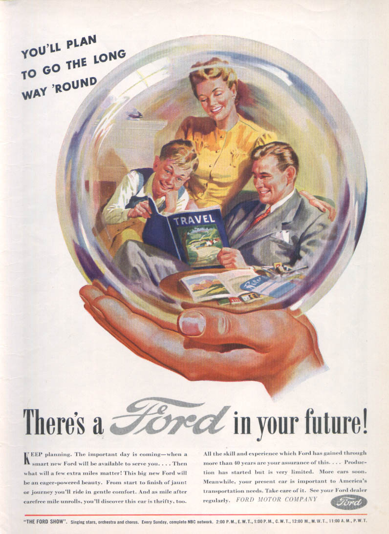 Image for You'll plan to go the long way 'round Ford ad 1945 1946