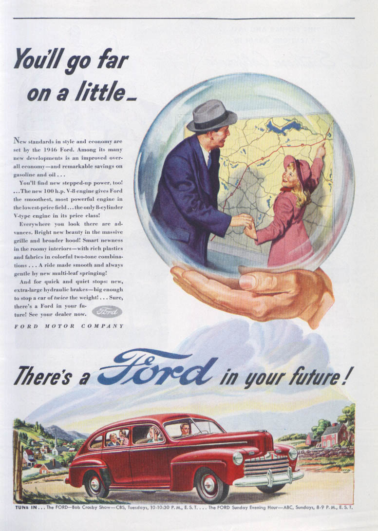 Image for You'll go far on a little - Ford ad 1946