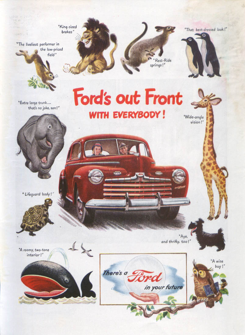 Ford's Out Front with Everybody! Ad 1946