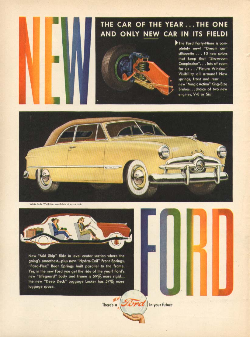 Ford Custom Convertible New Ford In Your Future Ad 1949