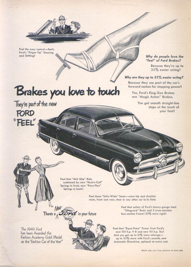 Image for Brakes you love to touch New Ford Feel ad 1949