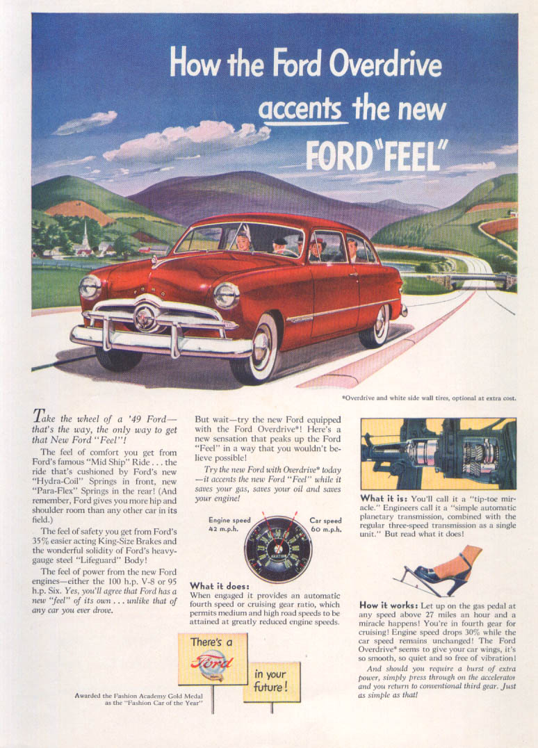 Image for How Ford Overdrive accents the new Ford Feel ad 1949