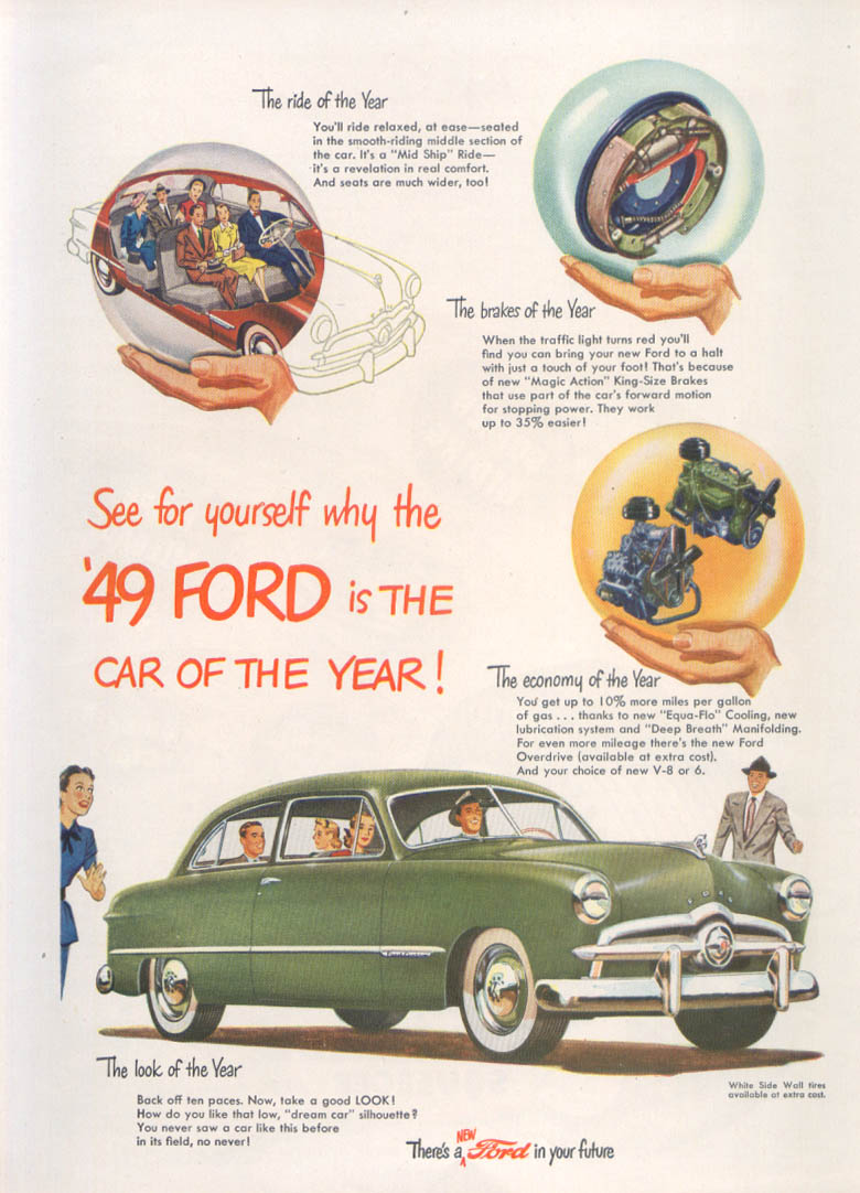 See for yourself The Car of the Year 1949 Ford ad