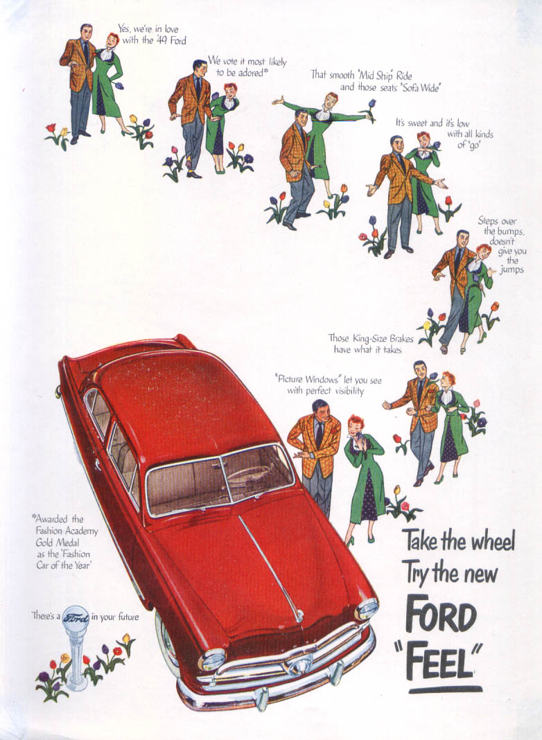 Image for Take the wheel Try the new Ford Feel ad 1949