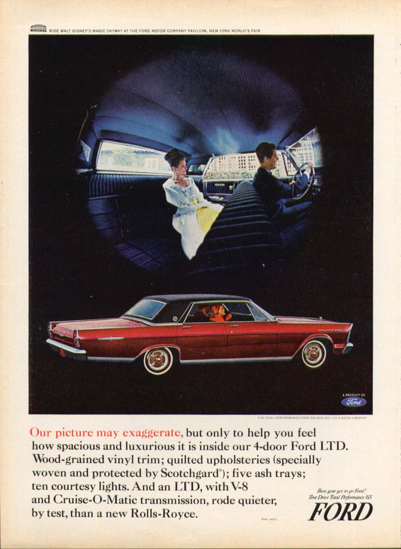 Image for Ford LTD picture may exaggerate ad 1965
