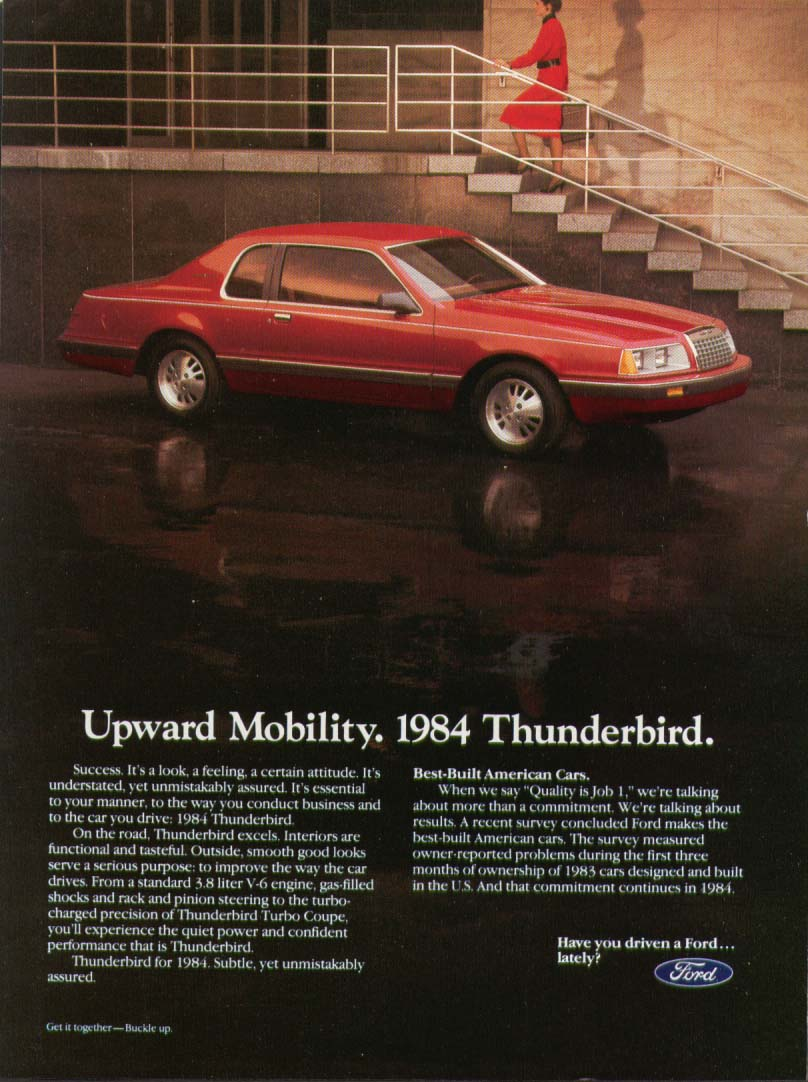 Image for Ford Thunderbird Upward Mobility ad 1984