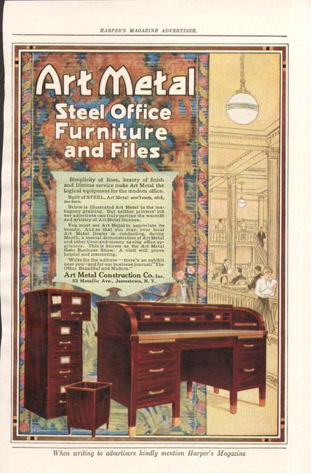 Art Metal Steel Office Furnitre & Files ad 1917
