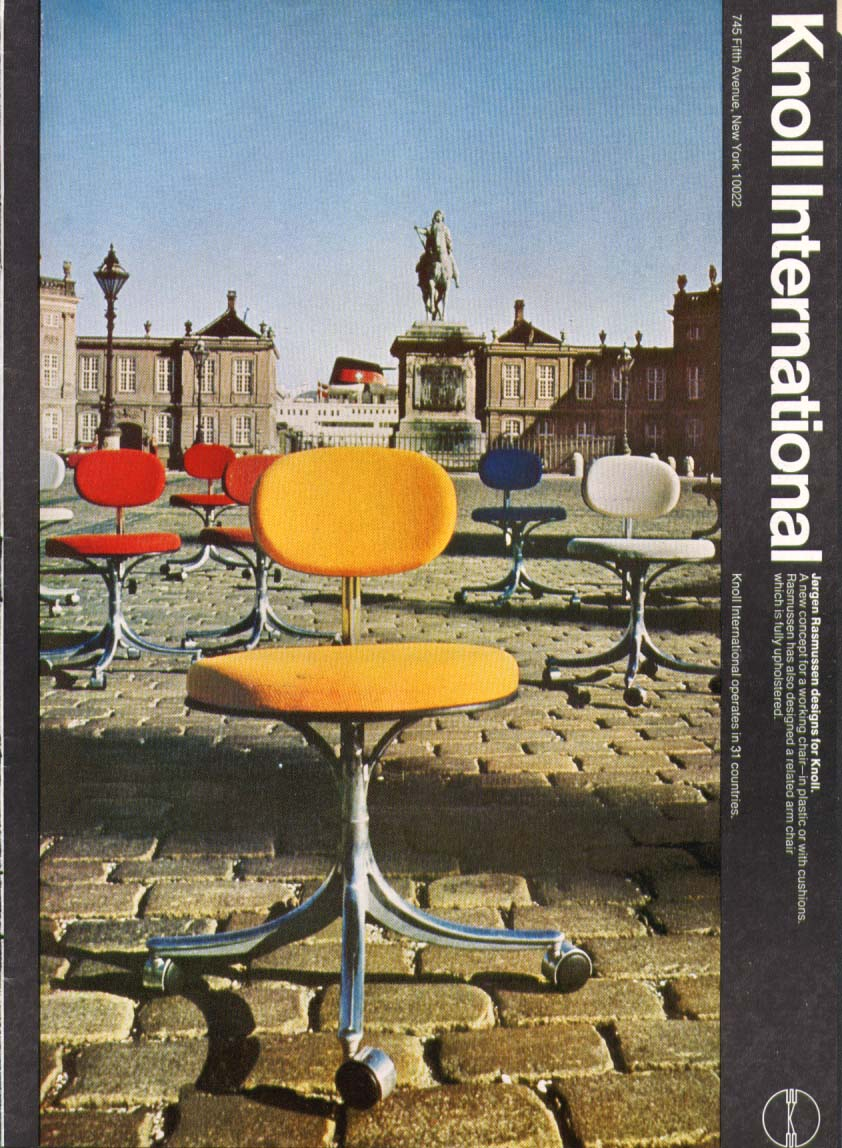 Image for Jergen Rasmussen chairs for Knoll International ad 1970