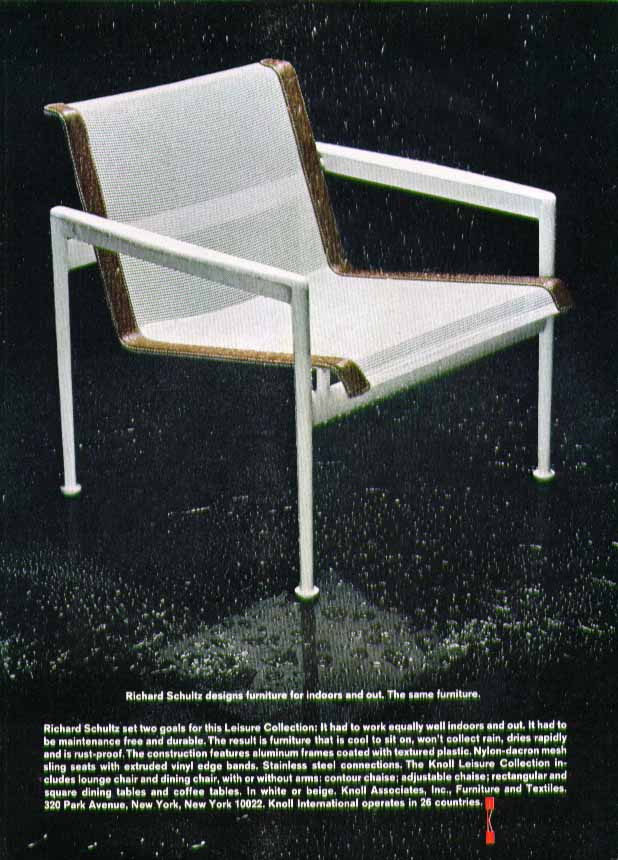 Image for Richard Schultz designs furniture for indoors & out Knoll Associates ad 1970