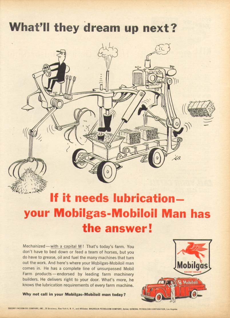 Image for Mobilgas-Mobiloil What'll they dream up next? Ad 1955